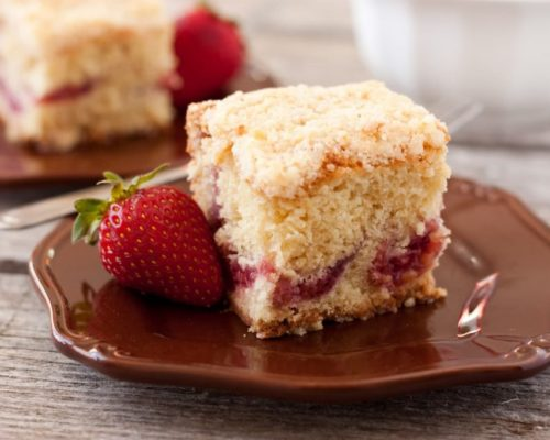Image of strawberry coffee cake