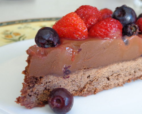 Image of berry chocolate cake